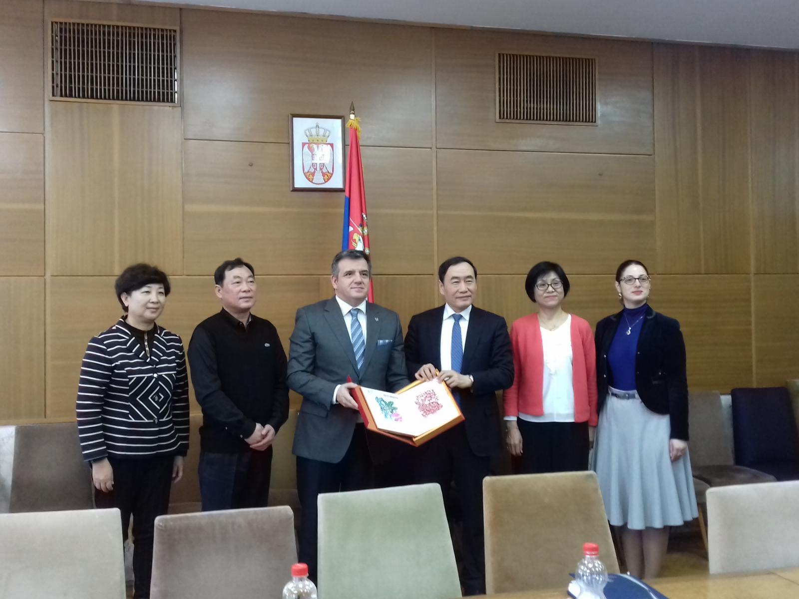 Делегација града Тјенђина у посети Министарству омладине и спорта