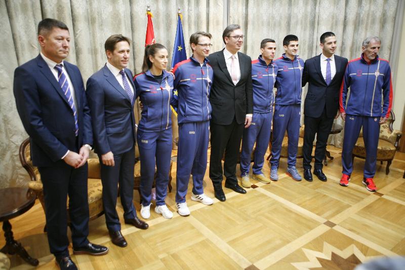 Susret premijera Vučića i ministra Udovičića sa srpskim atletičarima