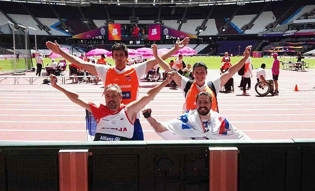 Ministar Udovičić čestitao para atletičarima Željku Dimitrijeviću i Milošu Mitiću osvajanje medalja na Svetskom prvenstvu u para atletici u Londonu