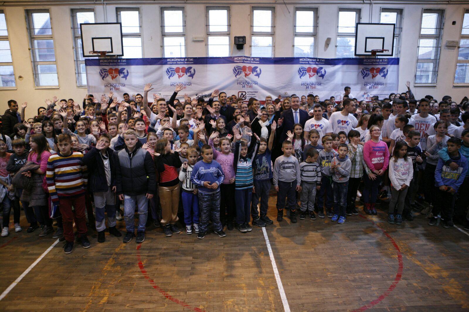 """Ministar Udovičić prisustvovao javnoj akciji programa """"ISKORAČI I TI! – Sportski. Zdravo. Bezbedno"""""""
