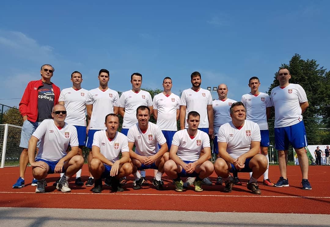 "Екипа Министарства омладине и спорта на Хуманитарном фудбалском турниру ""Diplomats 4 Children"""