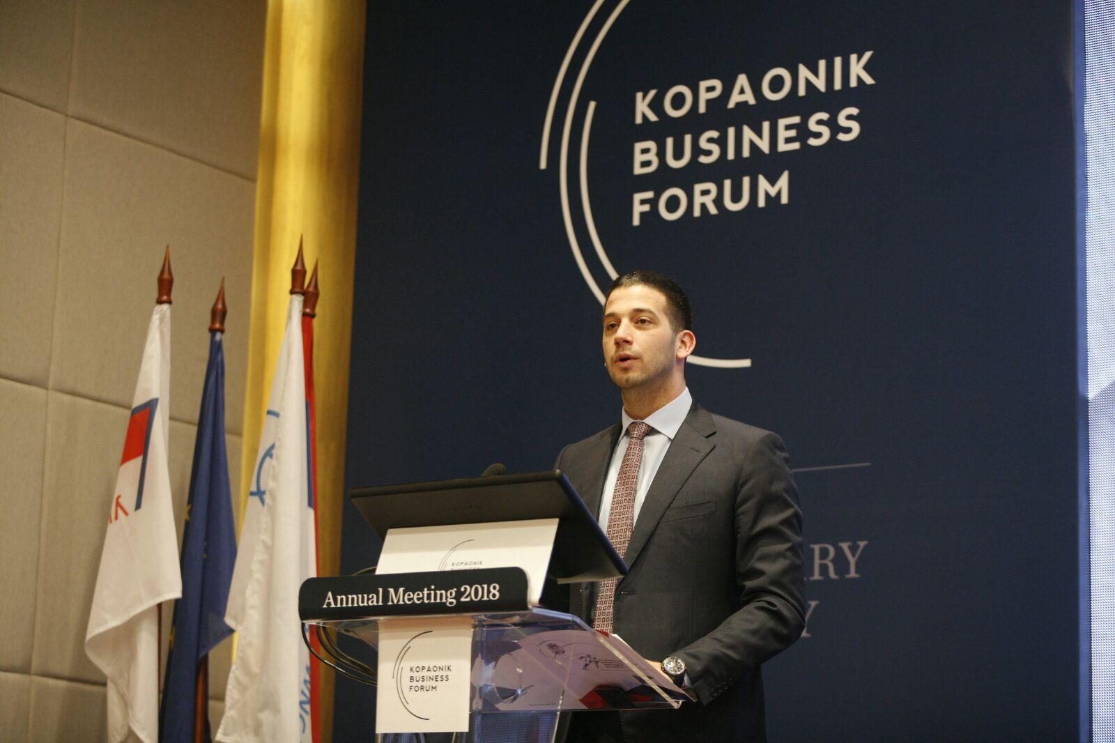 Obraćanje ministra Udovičića na 25. Kopaonik biznis forumu