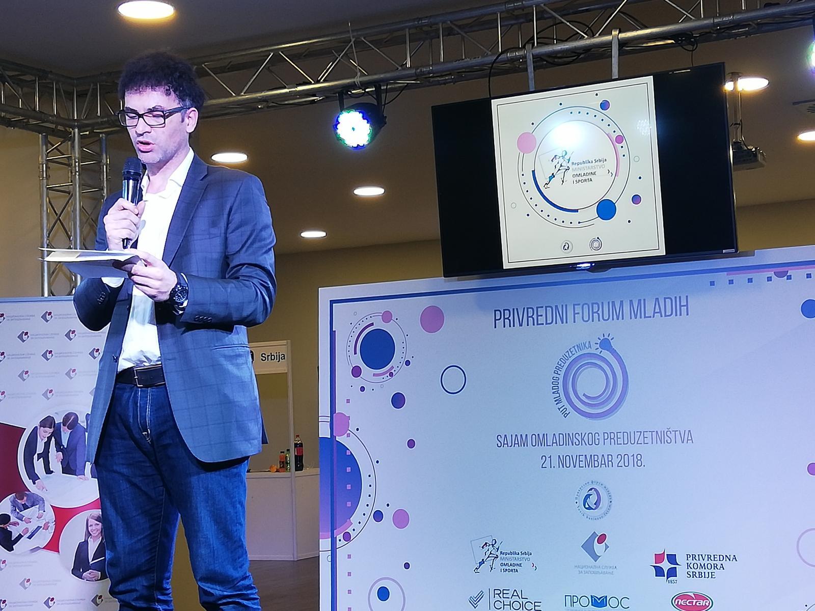 Државни секретар Дарко Станић на отварању Сајма омладинског предузетништа
