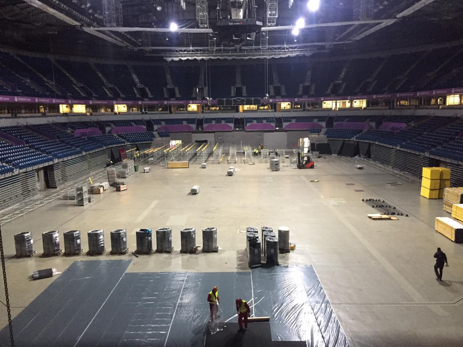 Počeli radovi u beogradskoj Kombank areni za predstojeće Evropsko prvenstvo u atletici!