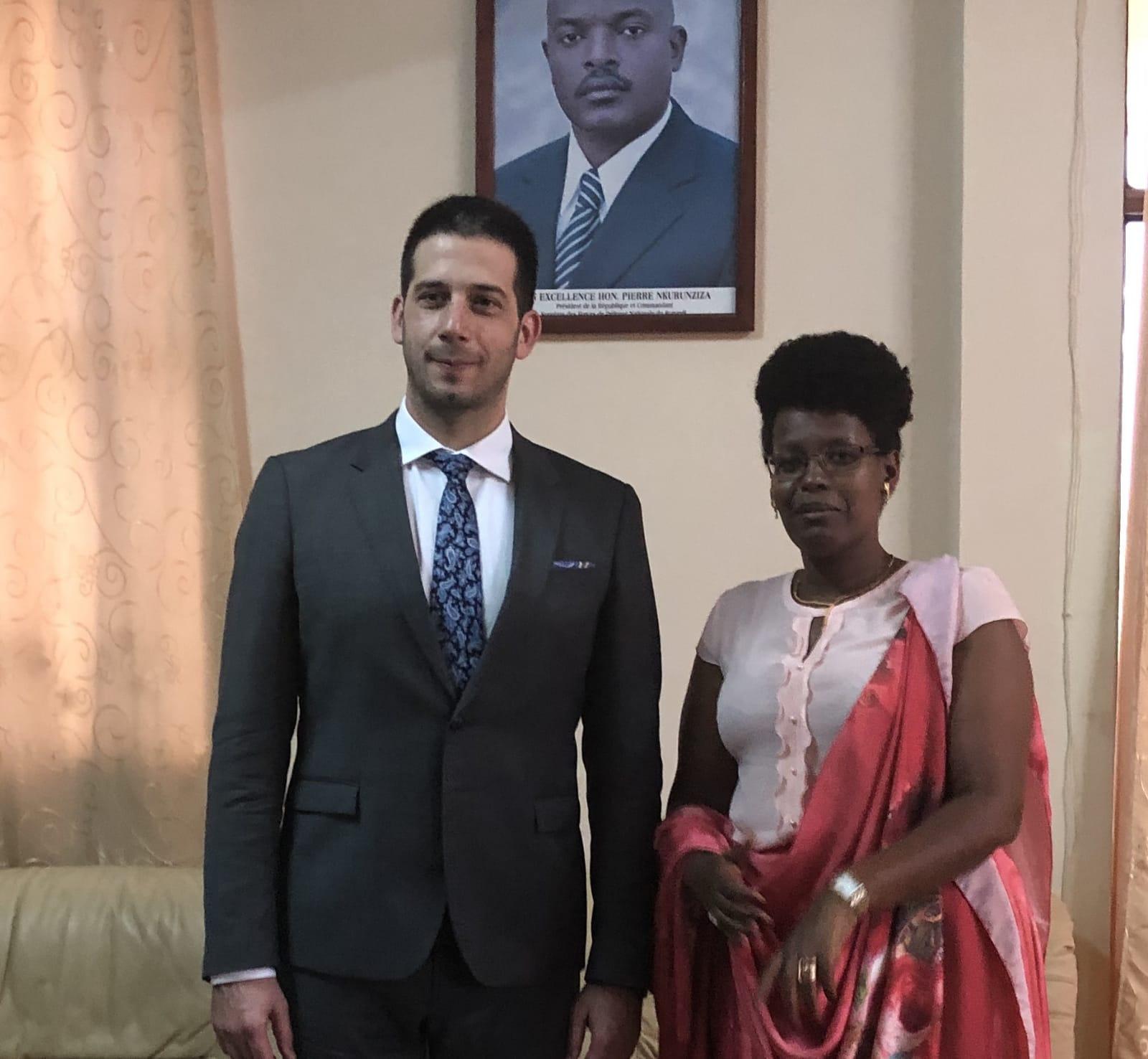 Ministar omladine i sporta Vanja Udovičić posetio Republiku Burundi