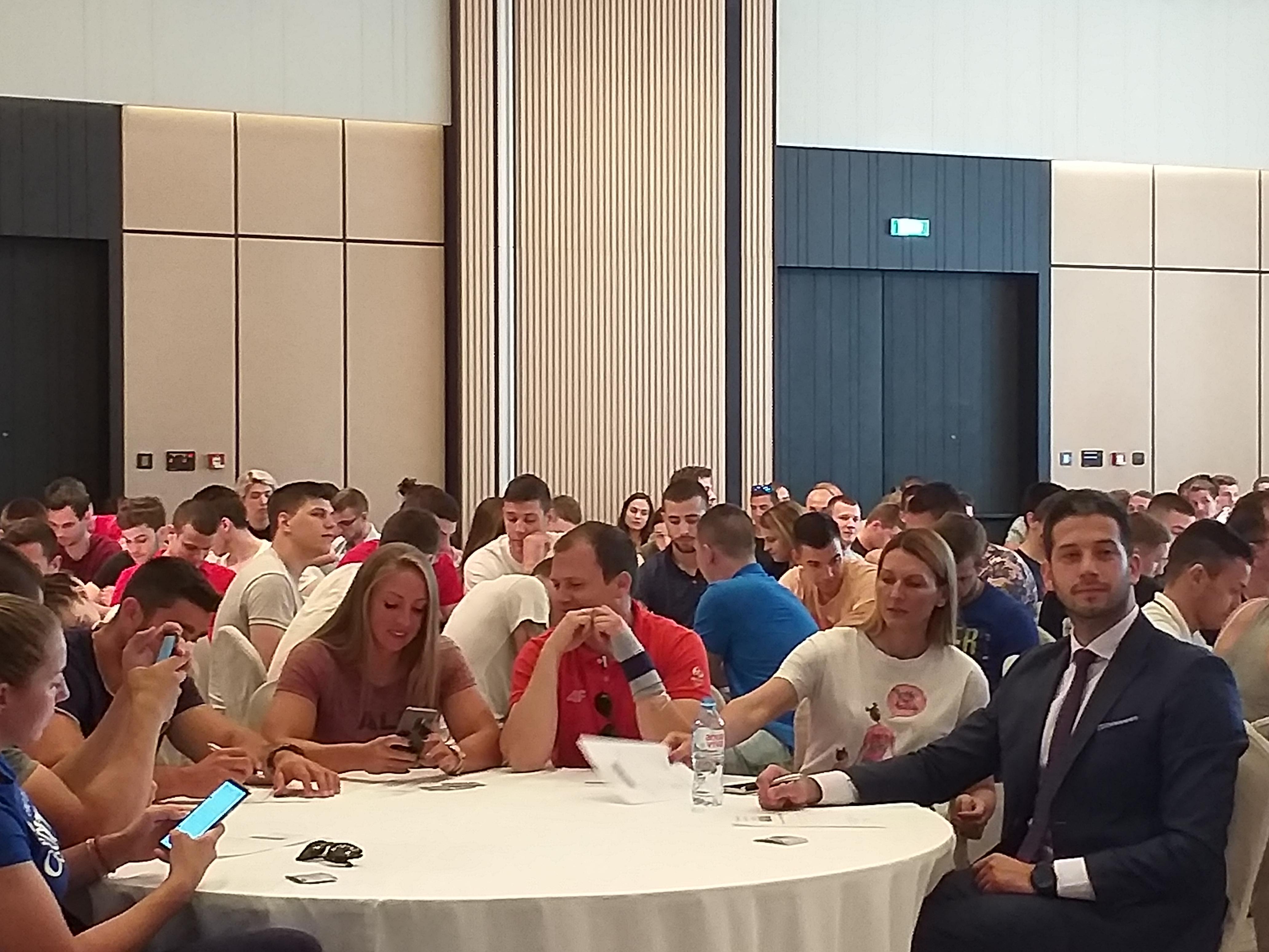 Udovičić  na prvoj ovogodišnjoj edukaciji Antidoping agencije Srbije za sportske stipendiste
