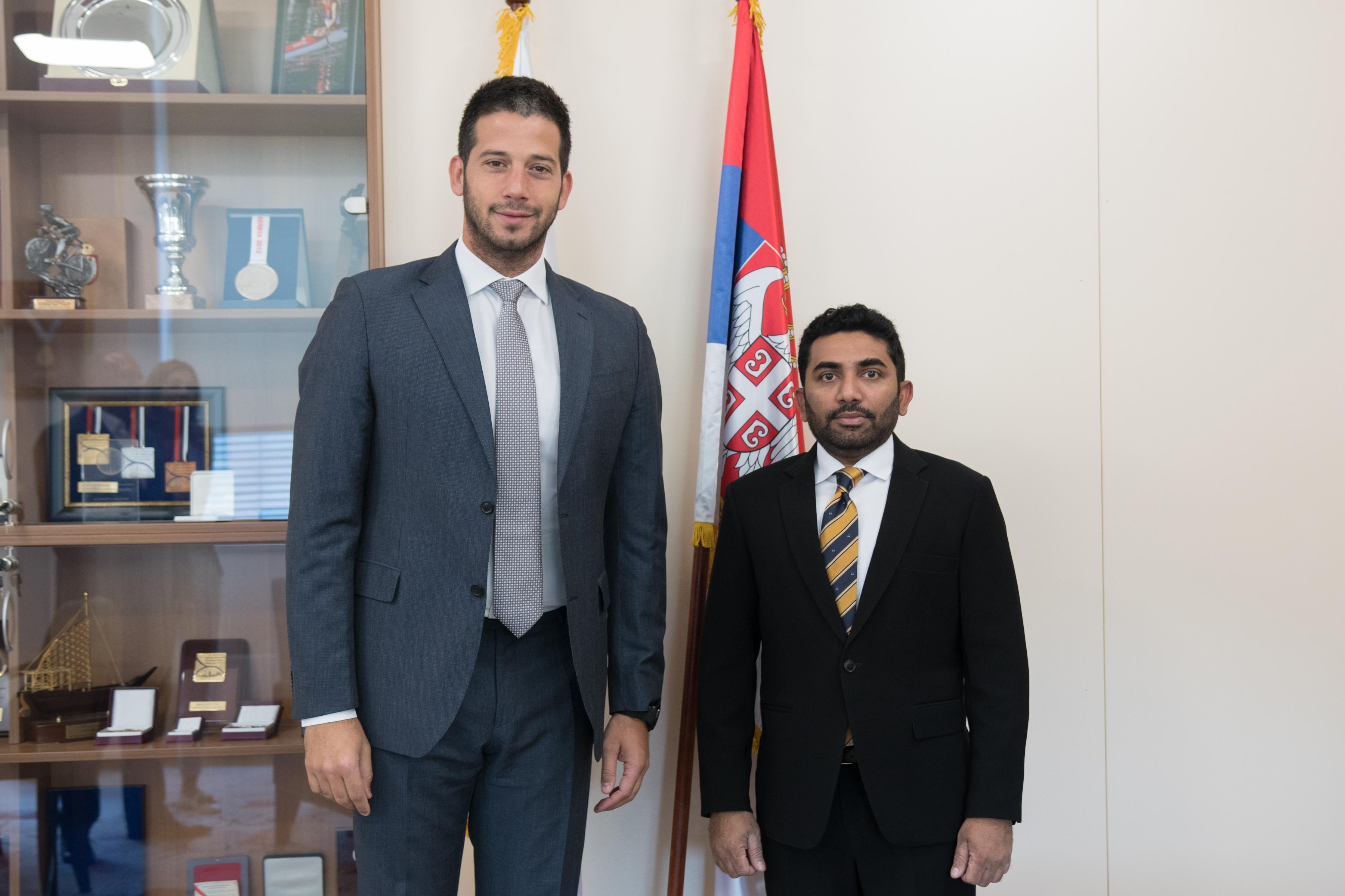 Министар Удовичић састао се са министром здравља Републике Малдиви Абдулом Амином