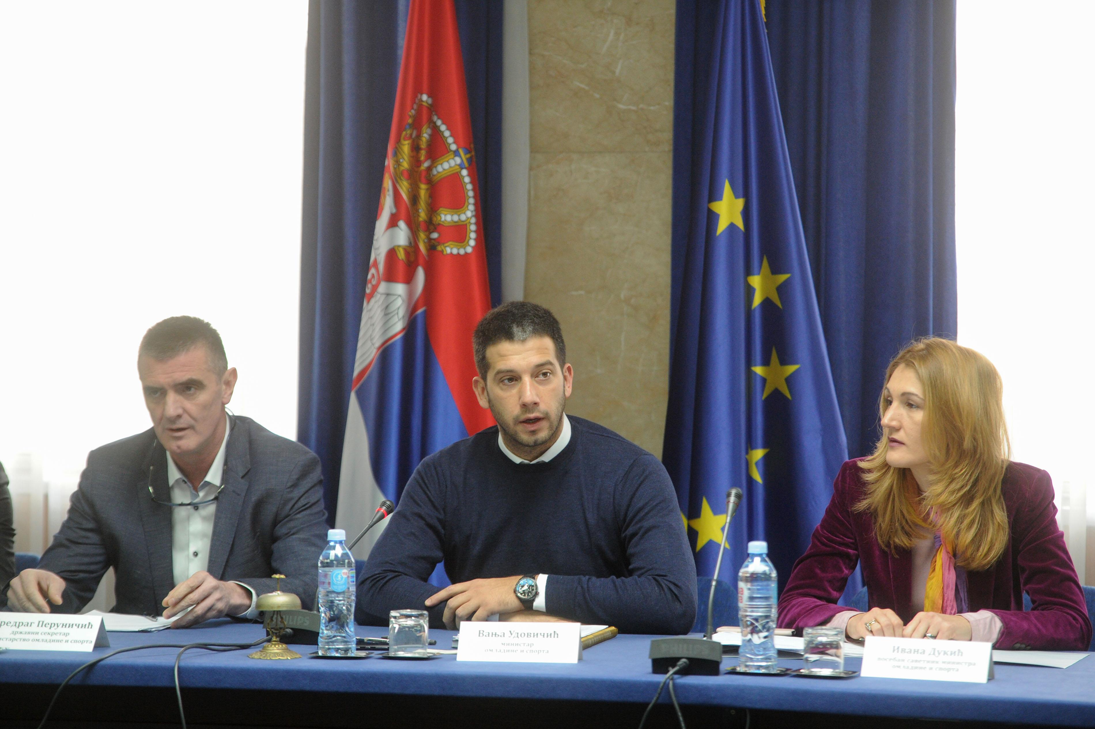 Oдржана трећа седница Радне групе за израду Националне стратегије развоја спорта