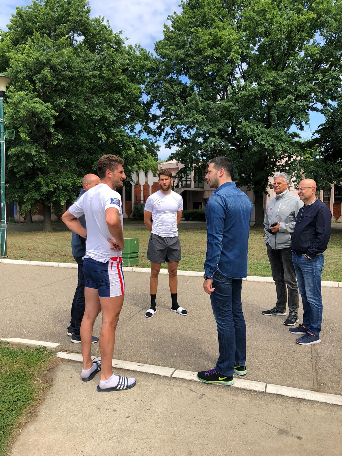 Министар Удовичић на тренингу са нашим веслачима