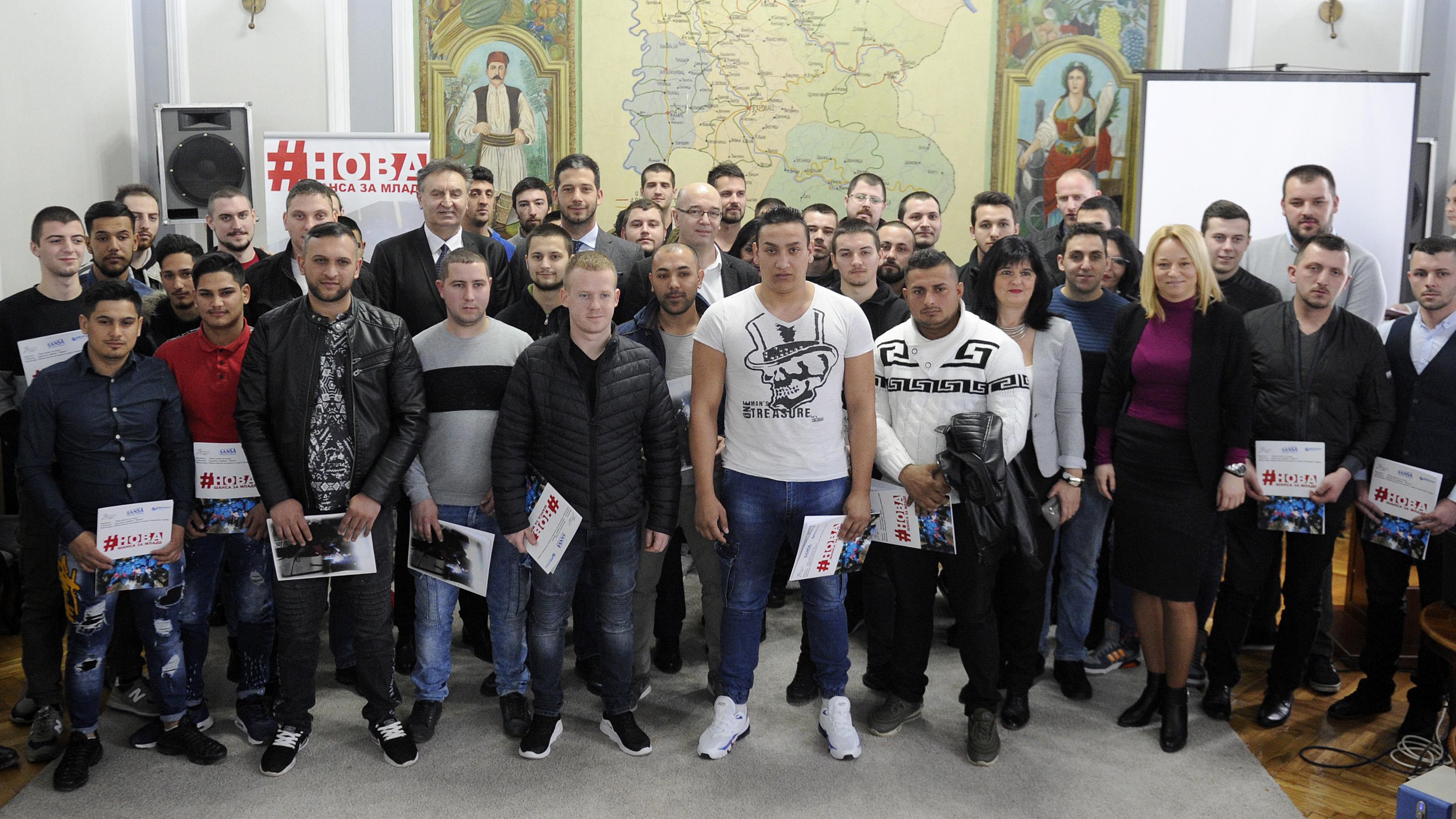Министар Удовичић младим заваривачима уручио сертификате који ће им омогућити лакше запошљавање