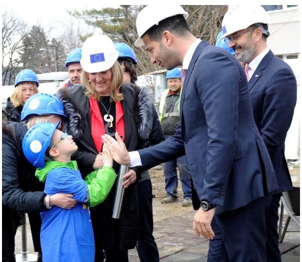 """Ministar Udovičić zvanično otvorio radove na izgradnji fiskulturne sale u školi """"Anton Skala"""""""