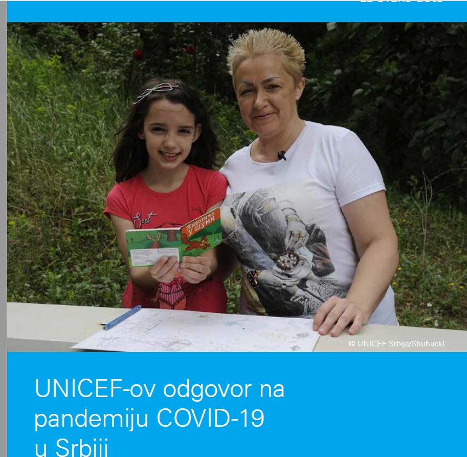 Objavljen izveštaj UNICEFA o odgovoru na Kovid-19 u Srbiji u saradnji sa partnerima