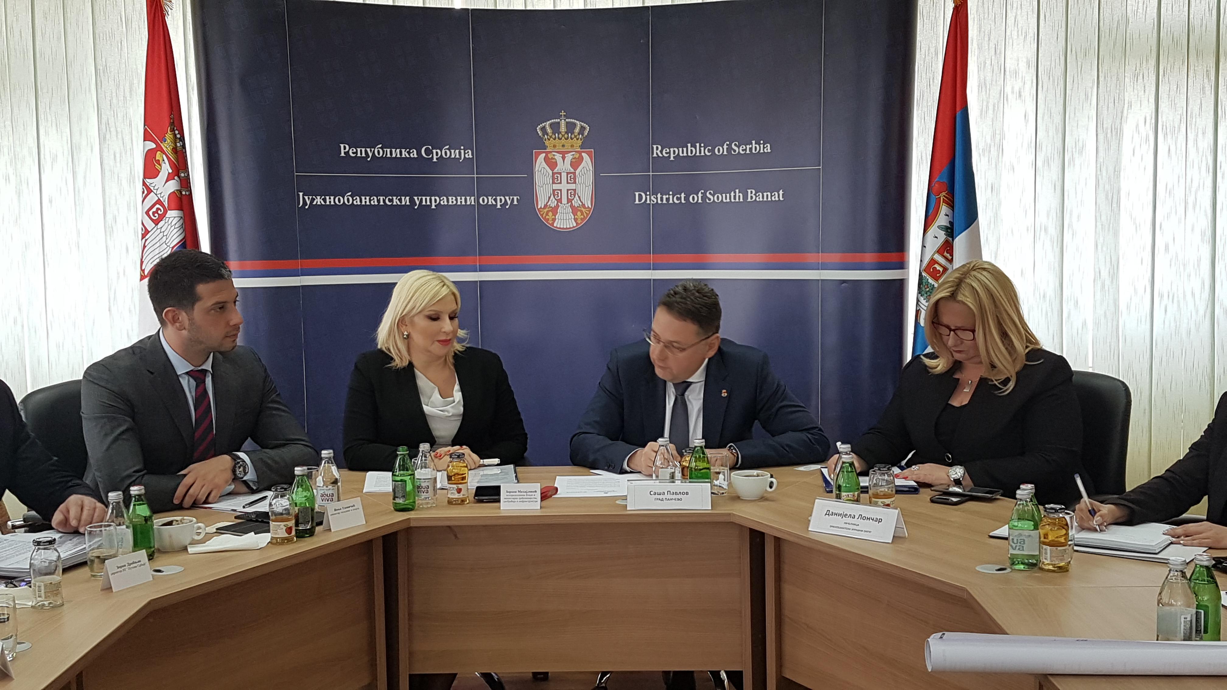 Ministar Udovičić u poseti Južnobanatskom okrugu