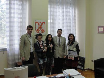 Peruničić primio osvajačice bronzane medalje