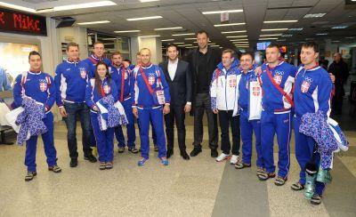 Udovičić i Divac ispratili olimpijce u Soči