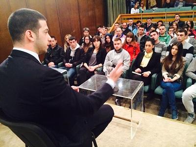 Удовичић студентима представио програм развоја универзитетског спорта