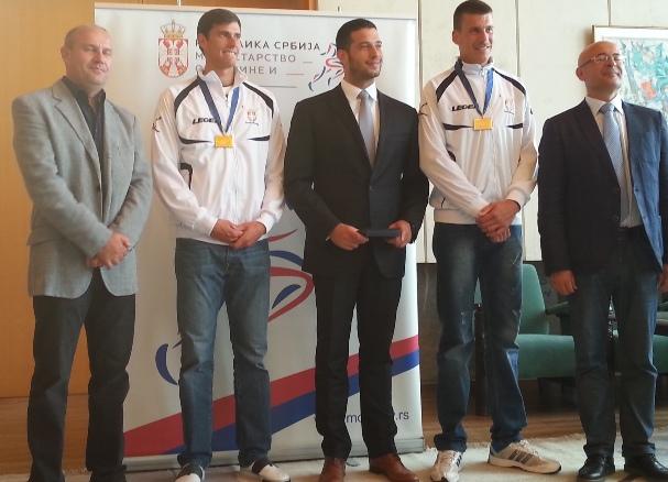 Пријем за златне веслаче у Министарству омладине и спорта