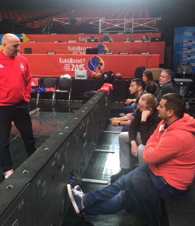 Udovičić obišao košarkaše na treningu