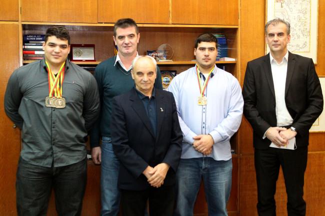 Peruničić primio osvajače medalja na Evropskom prvenstvu u dizanju tegova