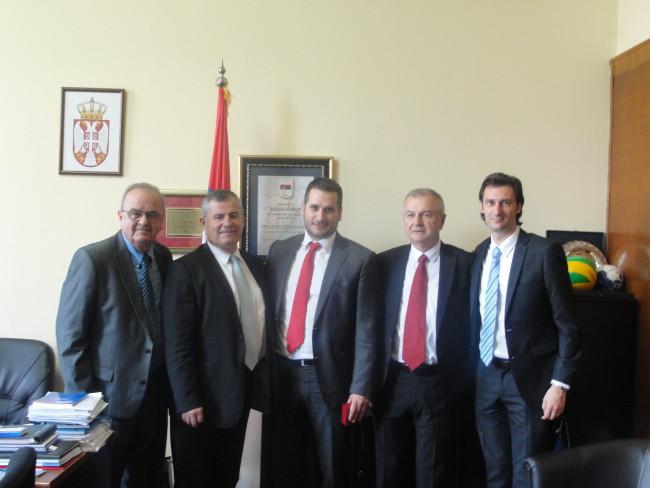 Zeković sa delegacijom Evropske federacije kompanijskog sporta