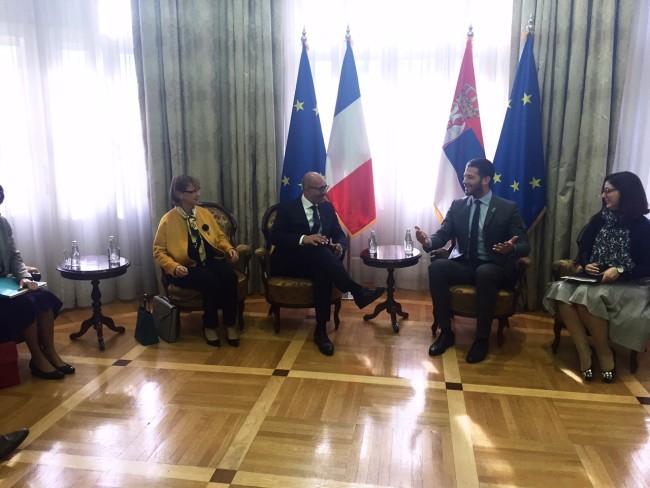 Udovičić sa Dezirom: Podrška Francuske u procesu stvaranja Regionalne kancelarije za mlade