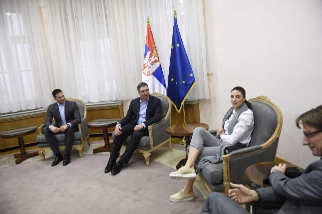 Ivana Španović na prijemu kod Vučića i Udovičića