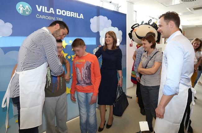 """Udovičić i Mali u humanitarnoj akciji """"Magični doručak"""" za decu sa smetnjama u  razvoju"""