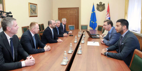Vučić i Udovičić sa Baumanom o razvoju sporta u Srbiji