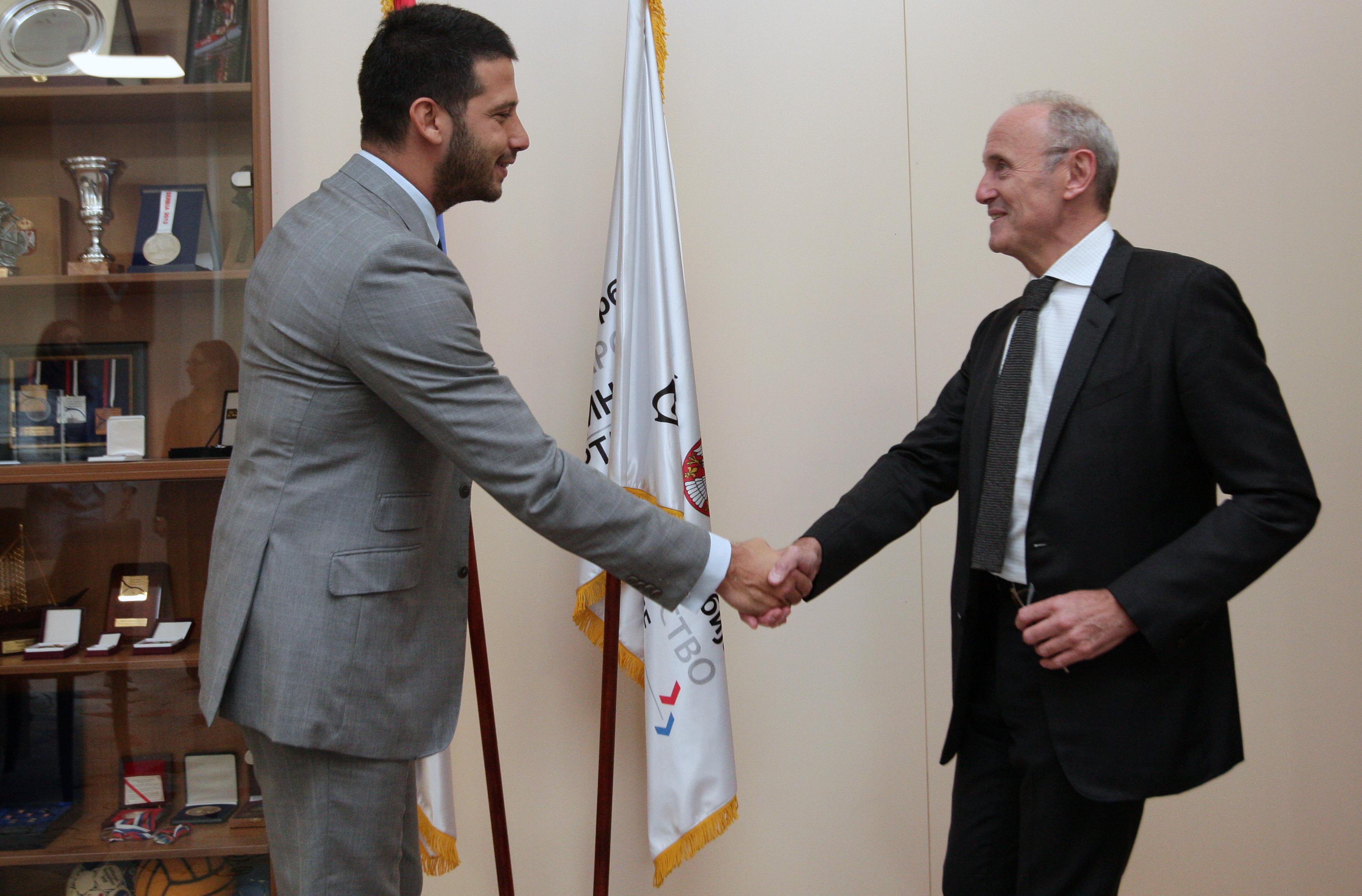 Министар Удовичић се сусрео са амбасадором Француске