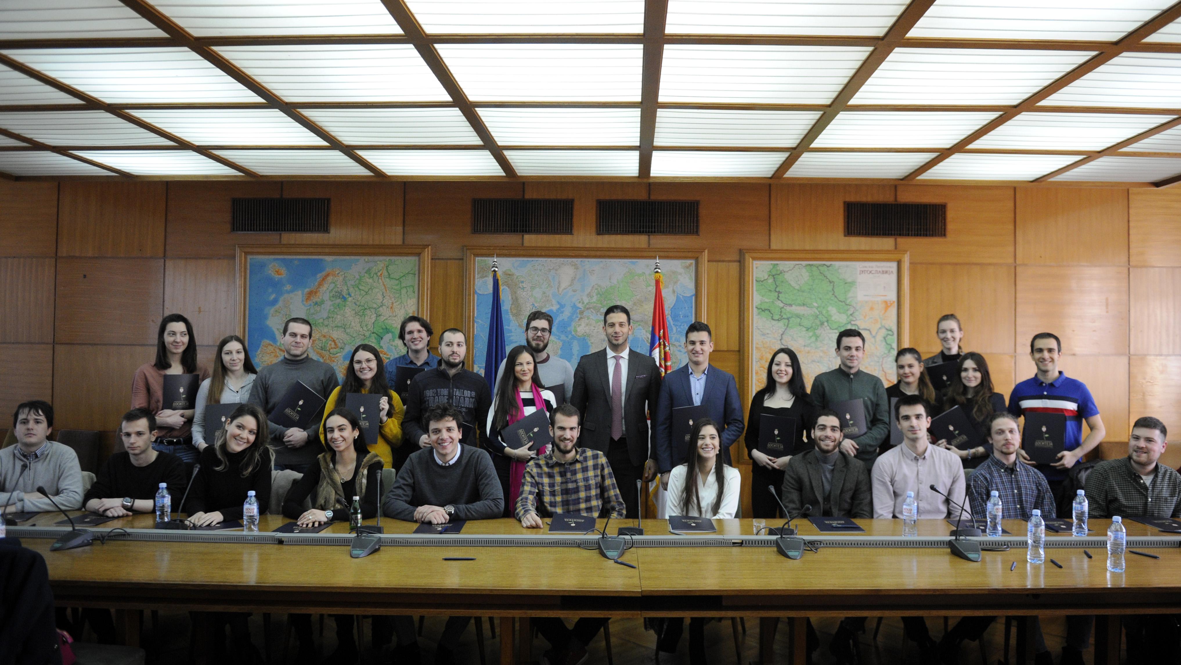 Удовичић: Стипендије за најбоље су подршка и системска брига о младима, за будућност Србије