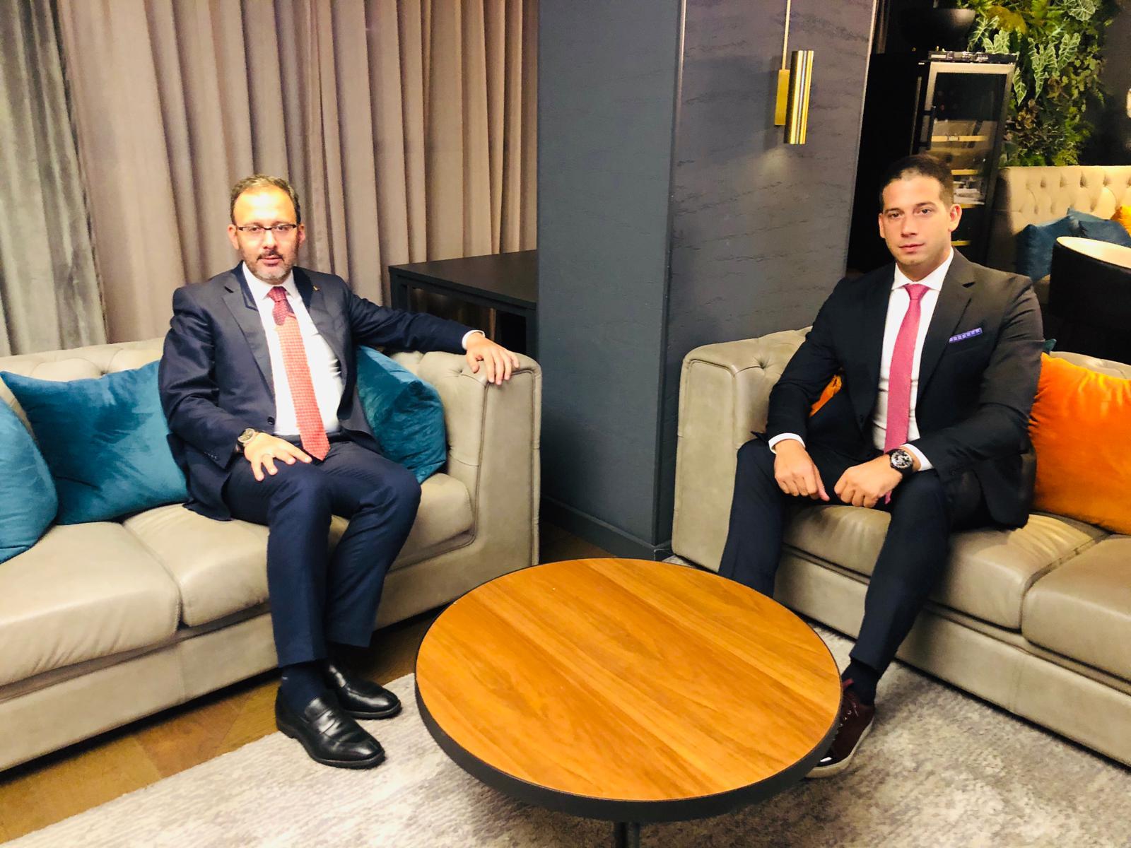 Ministar omladine i sporta Vanja Udovičić sastao se sa ministrom omladine i sporta Republike Turske Mehmetom Muharemom Kasapogluom