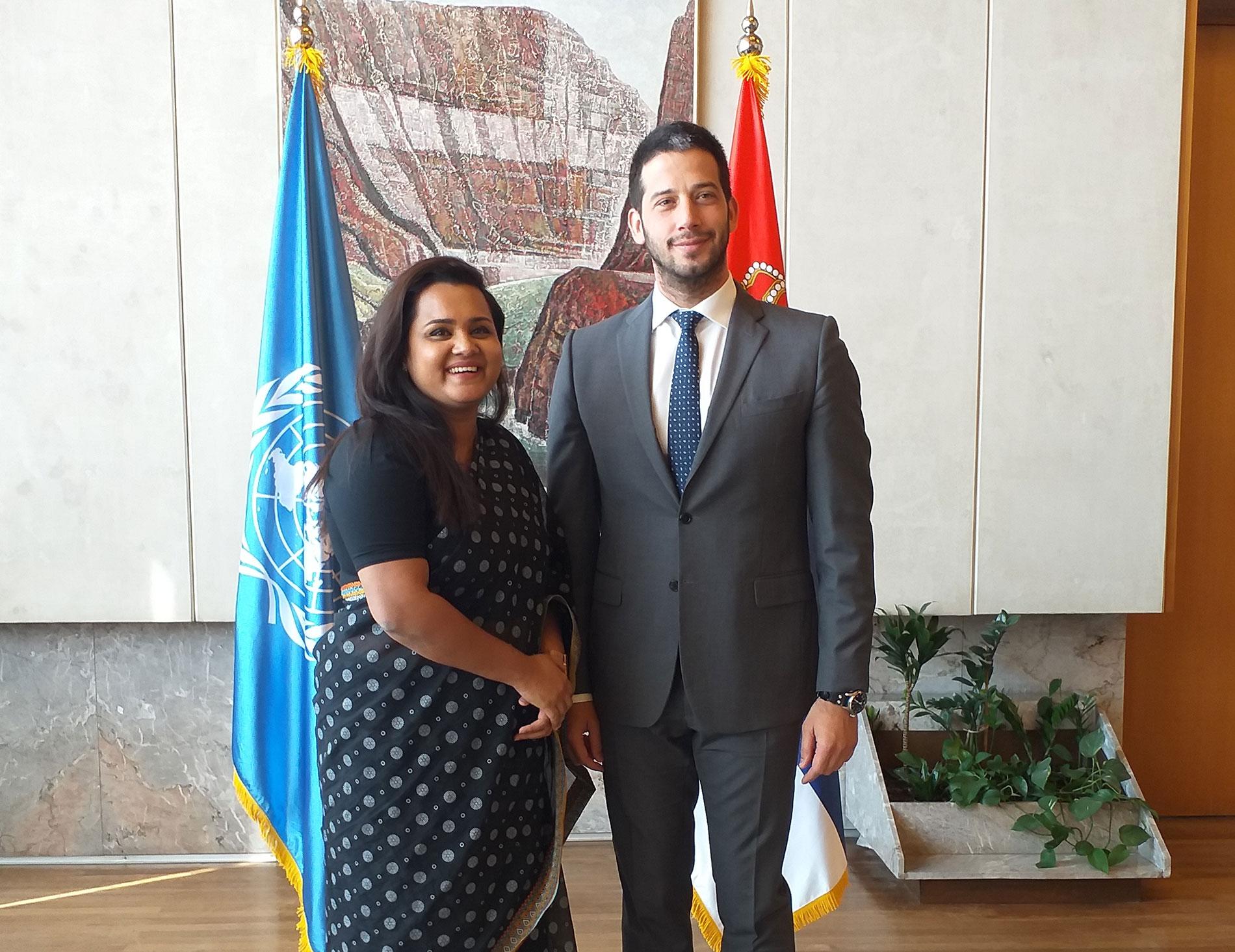 Састанак министра Удовичића са специјалном изасланицом за младе Генералног секретара УН