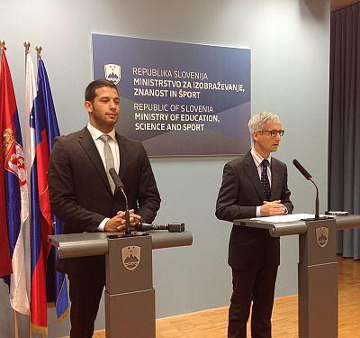 Сусрет министра омладине и спорта Удовичића са словеначким министром спорта