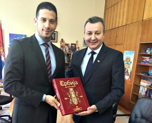 Директор Завода за спорт Горан Бојовић захвалио министру Удовичићу на   ангажовању у организацији Аспетар конференције