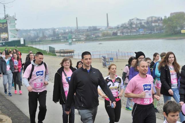 Удовичић на хуманитарној 'Розе трци', поводом Националног дана борбе против рака дојке
