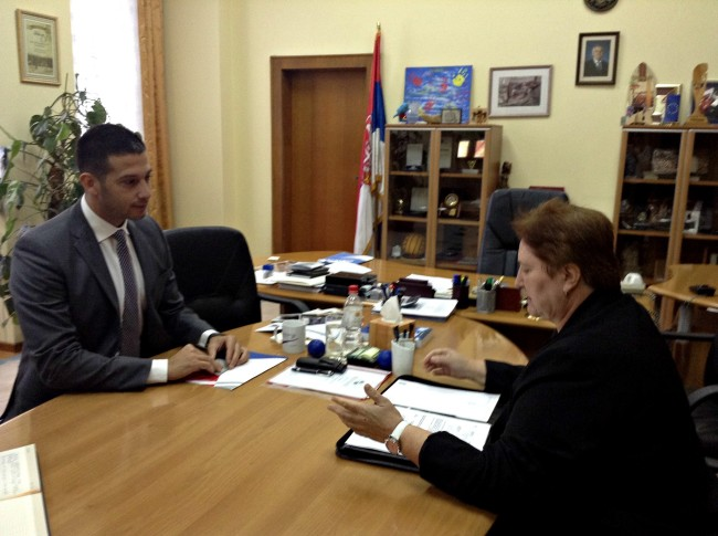 Udovičić i ambasadorka Slovačke