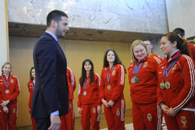 Ministar omladine i sporta, Vanja Udovičić, strelci, Streljački savez Srbije
